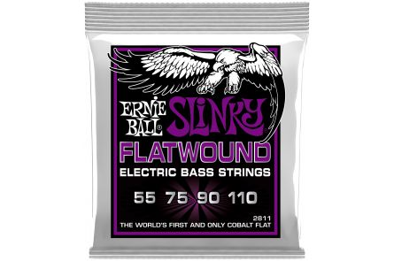 Ernie Ball 2811 Cobalt Flatwound Power Slinky Bass .055 - .110