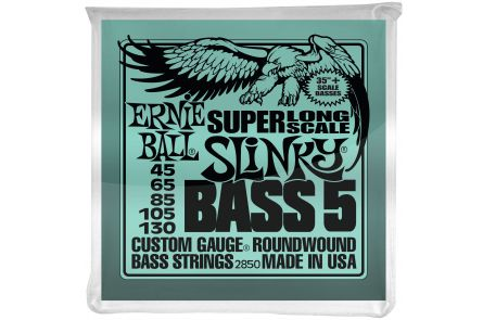 Ernie Ball 2850 Super Slinky Super Long Scale 5-String Bass .045 - .130