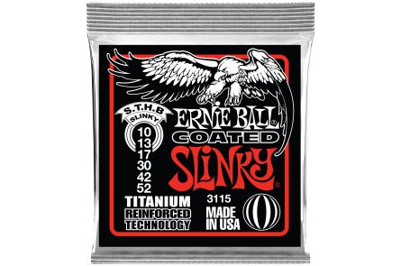 Ernie Ball 3115 Coated Skinny Top Heavy Bottom Slinky .010 - .052