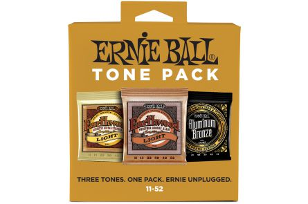 Ernie Ball 3314 3x Acoustic / Phosphor Bronze / Aluminium .011 - .052 - Tone Pack