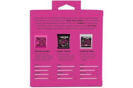 Ernie Ball 3333 3x Slinky / Cobalt / M-Steel .009 - .042 - Tone Pack