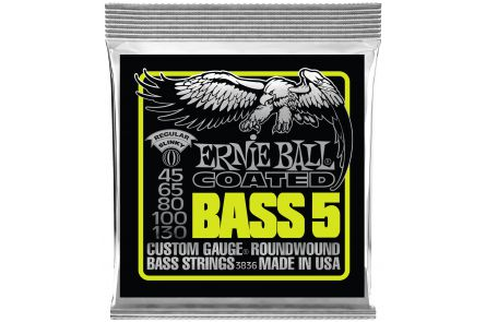 Ernie Ball 3836 Coated Regular Slinky 5-String Bass .045 - .130