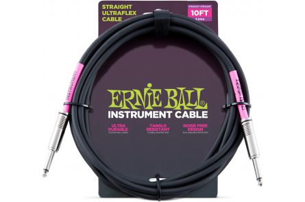 Ernie Ball 6048 Instrument Cable Straight/Straight - Black - 3.04 m (10')