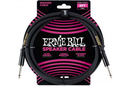 Ernie Ball 6072 Speaker Cable Straight/Straight - Black - 1.83 m (6')