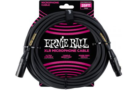 Ernie Ball 6073 Microphon Cable XLR/XLR - Black - 7,62 m (25')