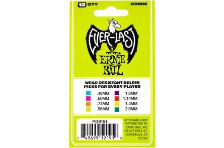 Ernie Ball 9191 Everlast Guitar Pick Heavy - Green - 12 Pack