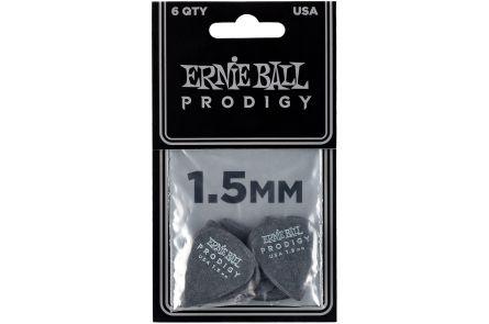 Ernie Ball 9199 Prodigy Guitar Pick Standard - 1.50 mm - Black - 6 Pack
