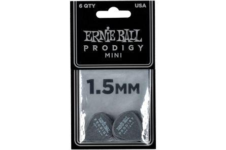 Ernie Ball 9200 Prodigy Guitar Pick Mini - 1.50 mm - Black - 6 Pack