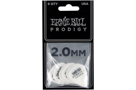 Ernie Ball 9202 Prodigy Guitar Pick Standard - 2.00 mm - White - 6 Pack