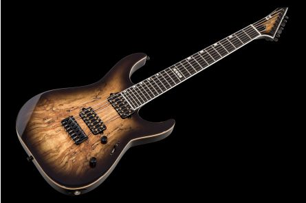 ESP E-II M-II-7 NT SM HS DBNB - Dark Brown Natural Burst
