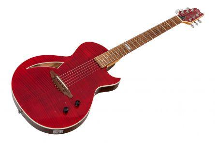 ESP Eclipse Custom Semi-Acoustic STR - See Thru Red