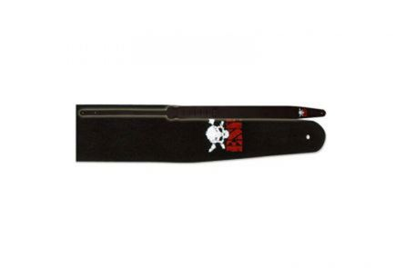 ESP ES-S-38W BK Leather Strap - Black & Skull Logo