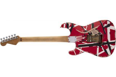 EVH Striped Series Frankenstein Frankie MN Red with Black Stripes Relic