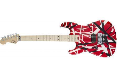 EVH Striped Series LH R/B/W MN Red - Black and White Stripes
