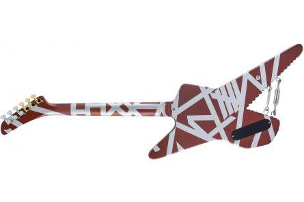 EVH Striped Series Shark - Pau Ferro Fingerboard - Burgundy with Silver Stripes