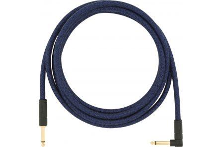 Fender 10' Angled Festival Instrument Cable - Pure Hemp - Blue Dream