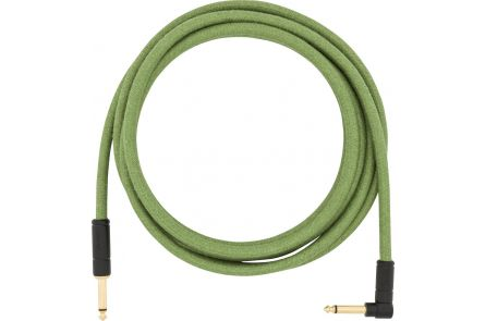 Fender 10' Angled Festival Instrument Cable - Pure Hemp - Green
