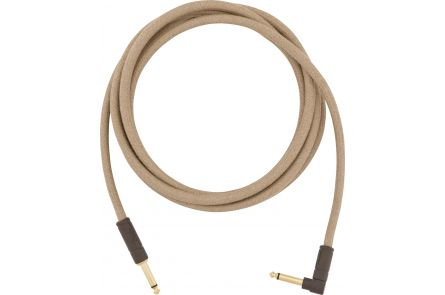 Fender 10' Angled Festival Instrument Cable - Pure Hemp - Natural