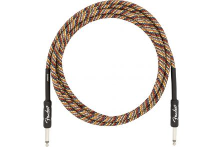 Fender 10' Festival Instrument Cable - Pure Hemp - Rainbow