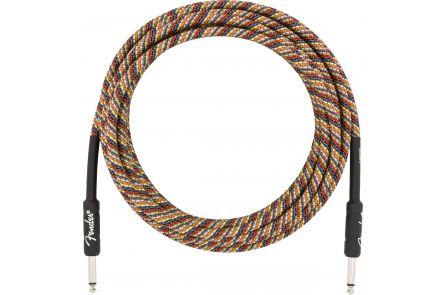 Fender 18.6' Festival Instrument Cable - Pure Hemp - Rainbow