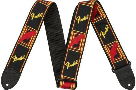 "Fender 2"" Monogrammed Strap - Black/Yellow/Red"
