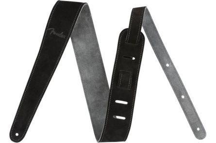 "Fender 2"" Suede Strap - Black/Gray - Reversible"