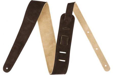 "Fender 2"" Suede Strap - Brown/Tan - Reversible"