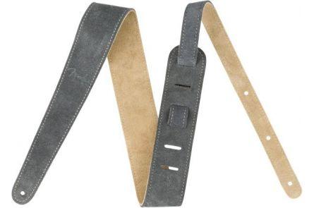 "Fender 2"" Suede Strap - Gray/Tan - Reversible"