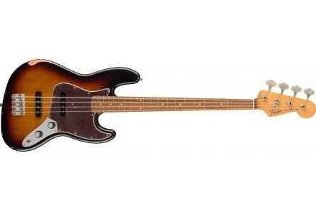 Fender 60th Anniversary Road Worn Jazz Bass PF - 3-Color Sunburst