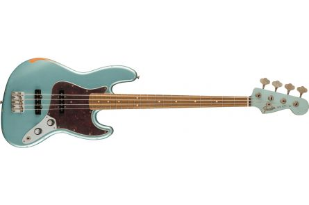 Fender 60th Anniversary Road Worn Jazz Bass PF - Firemist Silver