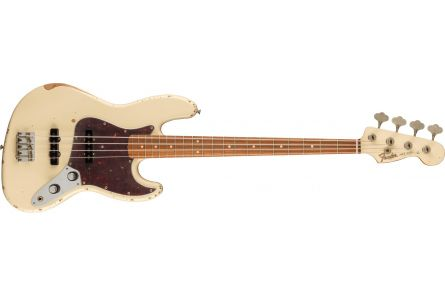 Fender 60th Anniversary Road Worn Jazz Bass PF - Olympic White