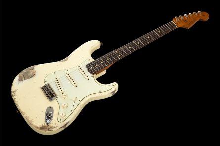 Fender Custom Shop '63 Stratocaster RW - Vintage White Heavy Relic