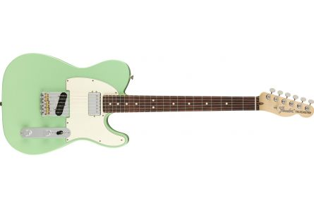 Fender American Performer Telecaster with Humbucking RW - Satin Surf Green