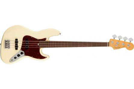 Fender American Professional II Jazz Bass Fretless RW - Olympic White
