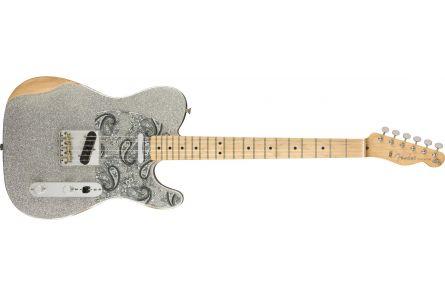 Fender Brad Paisley Road Worn Telecaster MN - Silver Sparkle