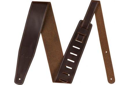 "Fender Broken-In Leather Strap - Brown 2.5"""