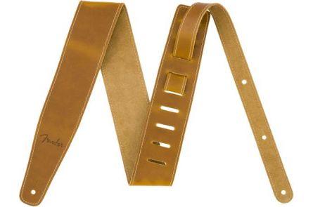 """Fender Broken-In Leather Strap - Natural 2.5"""""""
