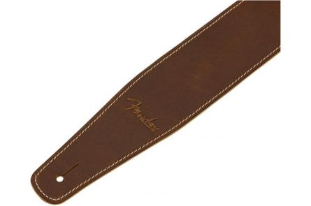 Fender Broken-In Leather Strap - Tan 2.5