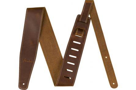 "Fender Broken-In Leather Strap - Tan 2.5"""