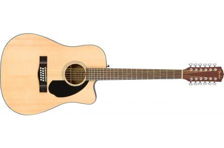 Fender CD-60SCE Dreadnought 12-string - Walnut Fingerboard - Natural