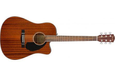 Fender CD-60SCE Dreadnought - Walnut Fingerboard - All-Mahogany