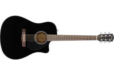 Fender CD-60SCE Dreadnought - Walnut Fingerboard - Black