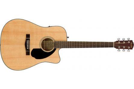 Fender CD-60SCE Dreadnought - Walnut Fingerboard - Natural