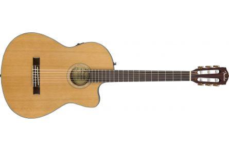 Fender CN-140SCE Nylon Thinline - Walnut Fingerboard - Natural w/Case
