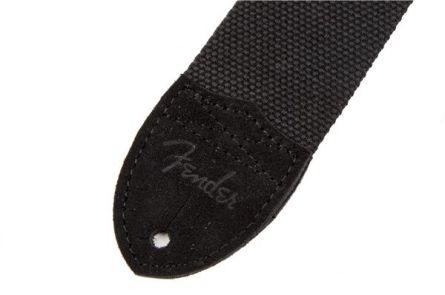 Fender Cotton/Leather Strap - Black