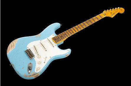 Fender Custom Shop '55 Stratocaster MN - Daphne Blue Heavy Relic