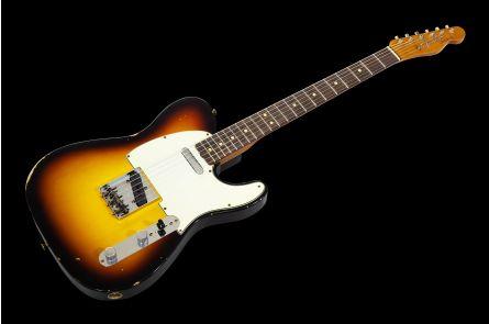 Fender Custom Shop '63 Telecaster Relic RW - Faded 3-Tone Sunburst