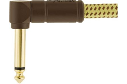 Fender Deluxe Series Instrument Cable - Angle/Angle - 1' - Tweed
