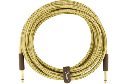 Fender Deluxe Series Instrument Cable - Straight/Straight - 15' - Tweed