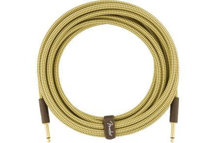 Fender Deluxe Series Instrument Cable - Straight/Straight - 18.6' - Tweed